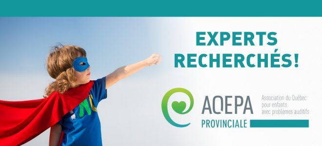 AQEPA Provinciale : EXPERTS RECHERCHÉS !
