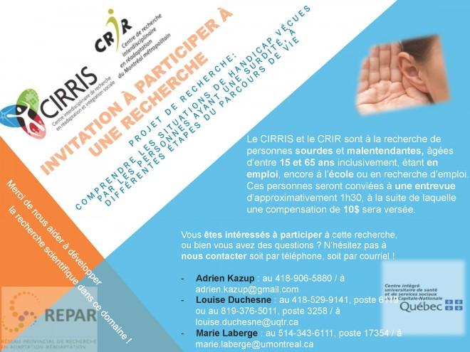 Affichette recrutement _ projet surdité CRIR_CIRRIS (002)