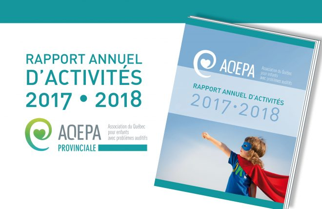 AQEPA Provinciale - Rapport annuel d'activités 2017/2018
