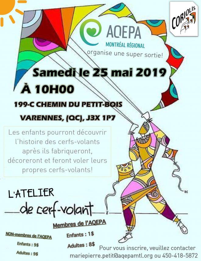 AQEPA Montréal Régional : Atelier Cerf-volant