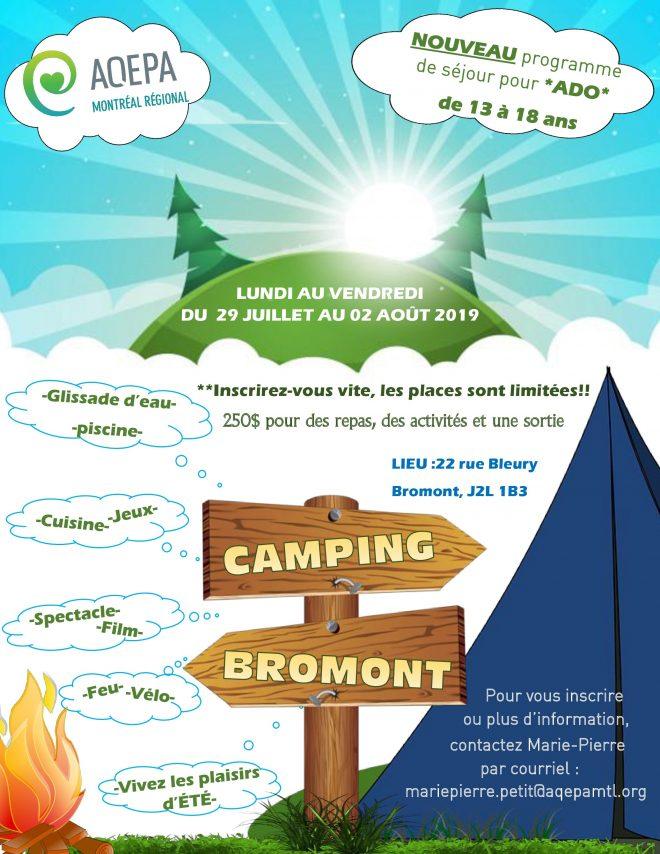 AQEPA Montréal Régional : Camp camping 2019