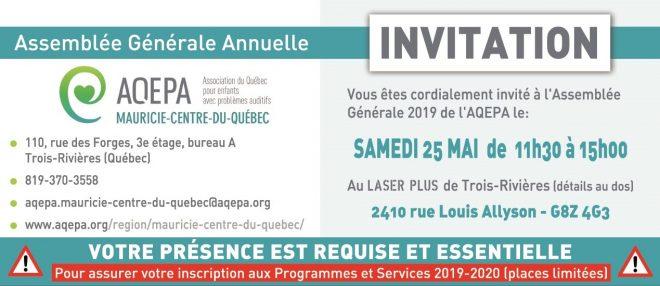 AQEPA Mauricie-Centre du Québec : Assemblée générale annuelle