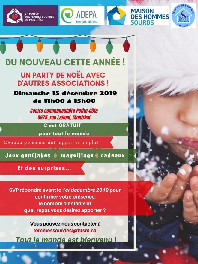 AQEPA Montréal Régional : Fête de Noël