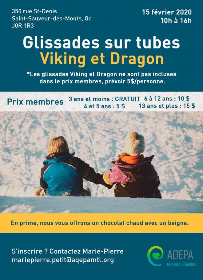 AQEPA Montréal Régional :  Glissades en tubes