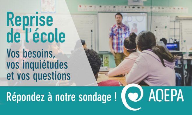 SONDAGE : Reprise de l'école pour les élèves ayant une surdité