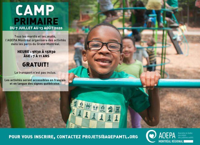 AQEPA Montréal Régional : Camp primaire