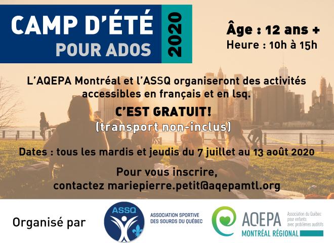 AQEPA Montréal Régional : Camp Ados