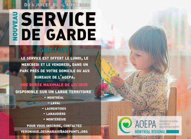 AQEPA Montréal Régional : Service de garde