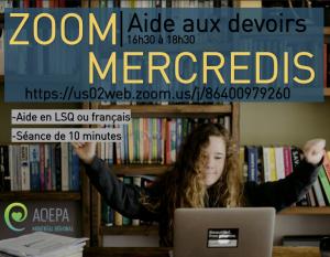 AQEPA Montréal Régional : Aide aux devoirs en ligne!