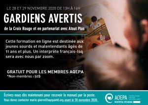AQEPA Montréal Régional : formation Gardiens avertis