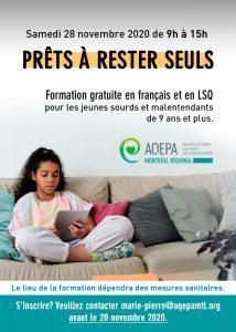 AQEPA Montréal Régional : formation Prêts à rester seuls