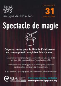 AQEPA Montréal Régional : Fête de l'Halloween virtuelle