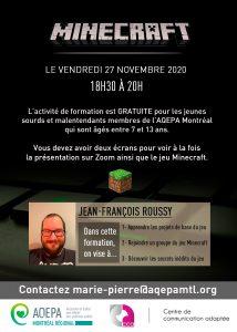 AQEPA Montréal Régional : Cours de programmation Minecraft
