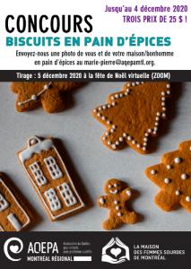 AQEPA Montréal Régional : concours biscuits pain d'épices
