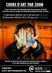 AQEPA Montréal Régional : Cours d'art en ligne