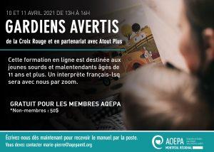 AQEPA Montréal Régional :  « Formation Gardiens avertis »