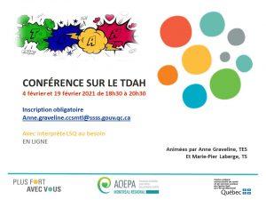 AQEPA Montréal Régional : conférence sur le TDAH