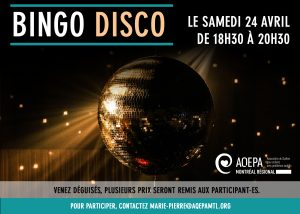AQEPA Montréal Régional : Bingo disco !