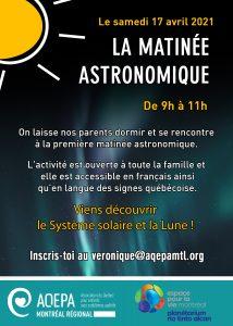 AQEPA Montréal Régional : La matinée astronomique