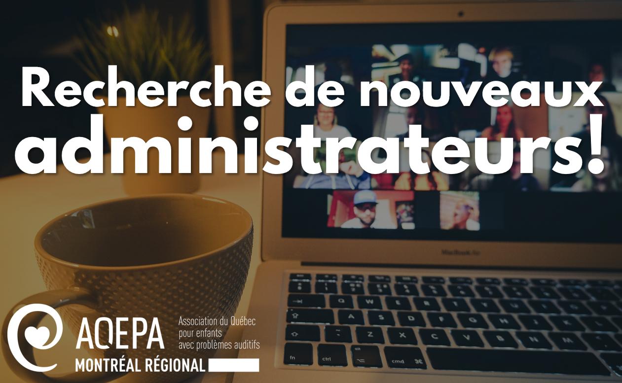 AQEPA Montréal Régional : Recrutement de nouveaux administrateurs