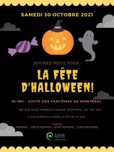 AQEPA Montréal Régional : Fête d'Halloween!