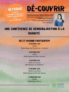 AQEPA Montréal Régional : Conférence Dé-couvrir